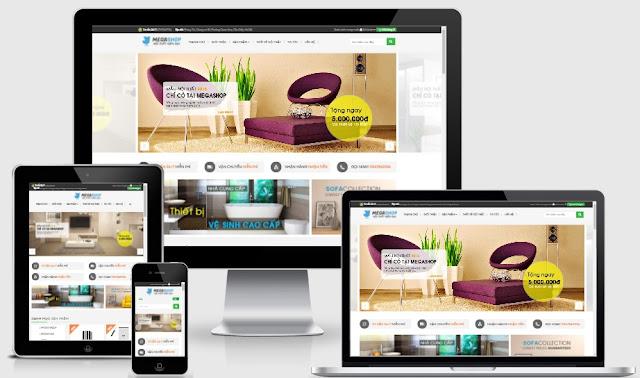 Template blogspot bán hàng nội thất gia đình chuẩn seo