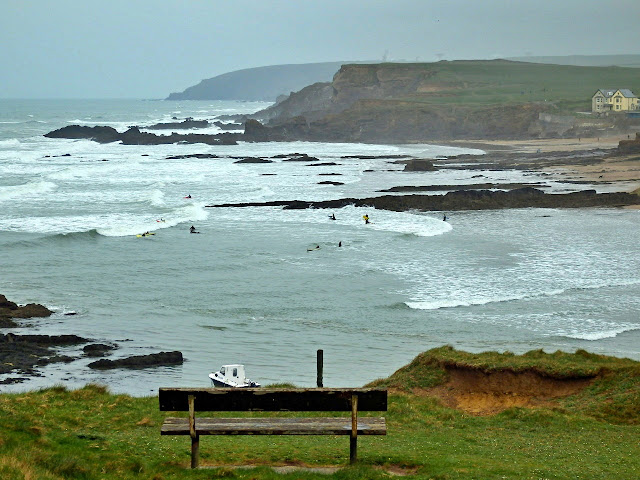Looking out to sea from cliffs at Bude, Cornwall