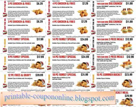graphic relating to Kfc Coupon Printable named Kfc printable discount coupons 2018 : Even though do rugs move upon sale