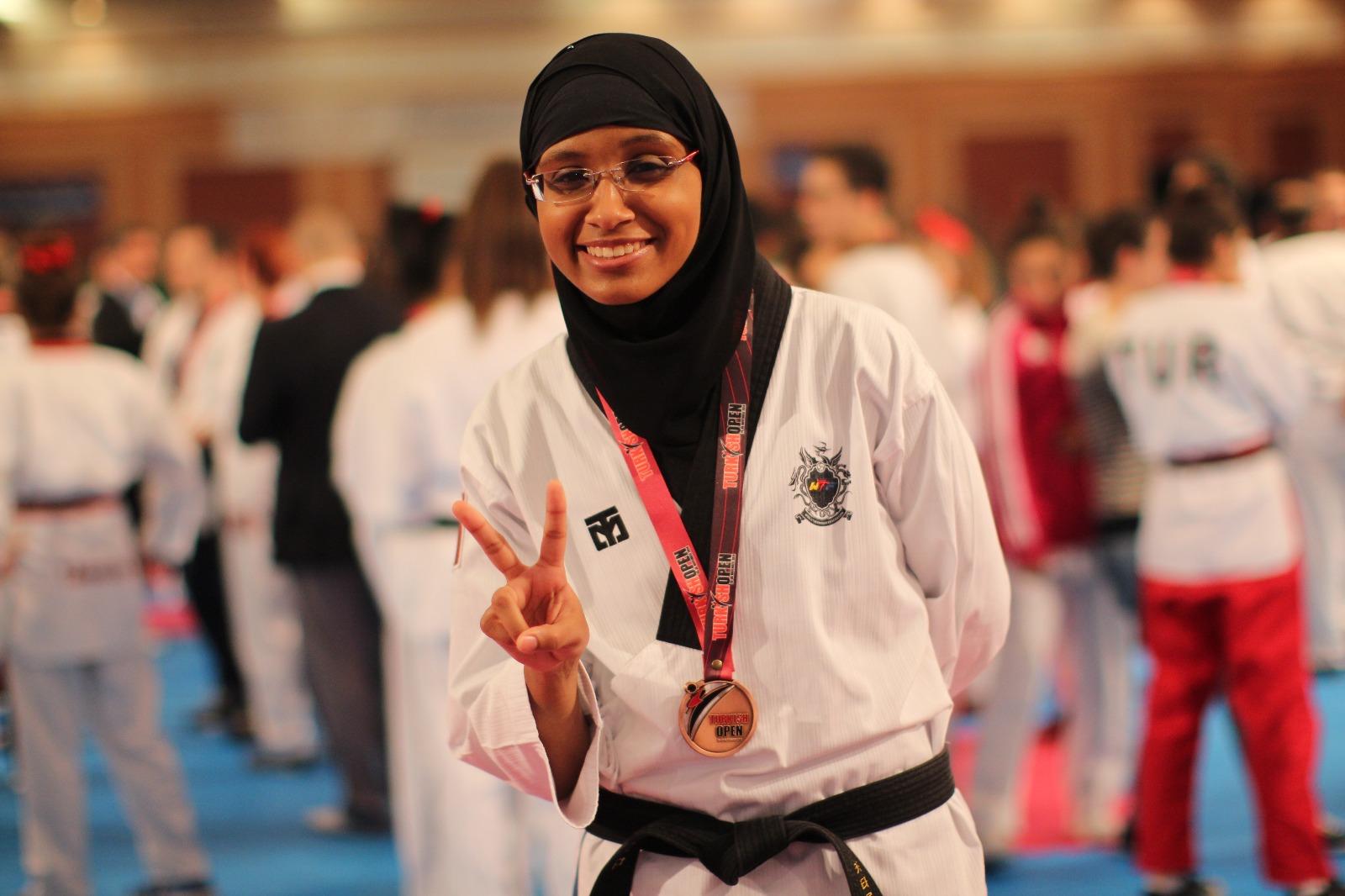 Image result for huda mohammed qatar taekwondo