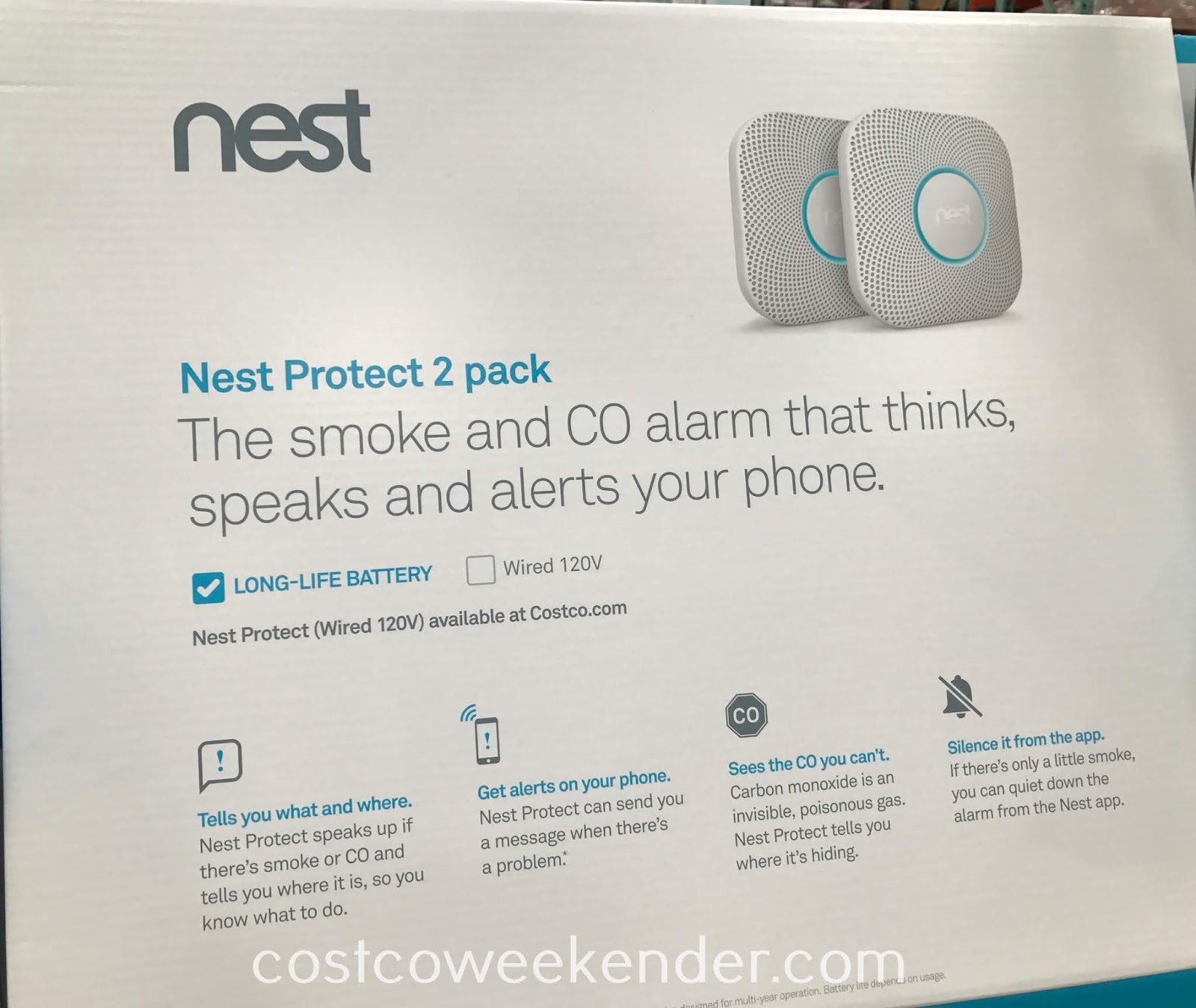 Be safe from fire or carbon monoxide in your home with the Nest Protect Battery Power Smoke and CO Alarm