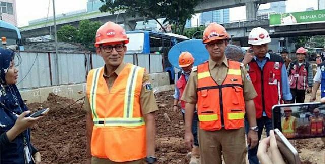 Anies-Sandi Prediksi Pembangunan Underpass Mampang Molor 4 Bulan
