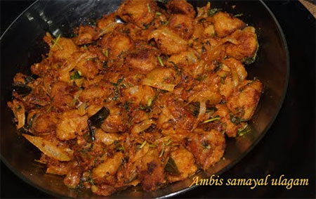 Spicy soya fry (Protein rich side dish)