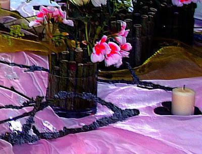 Festliche Tischdeko Lila