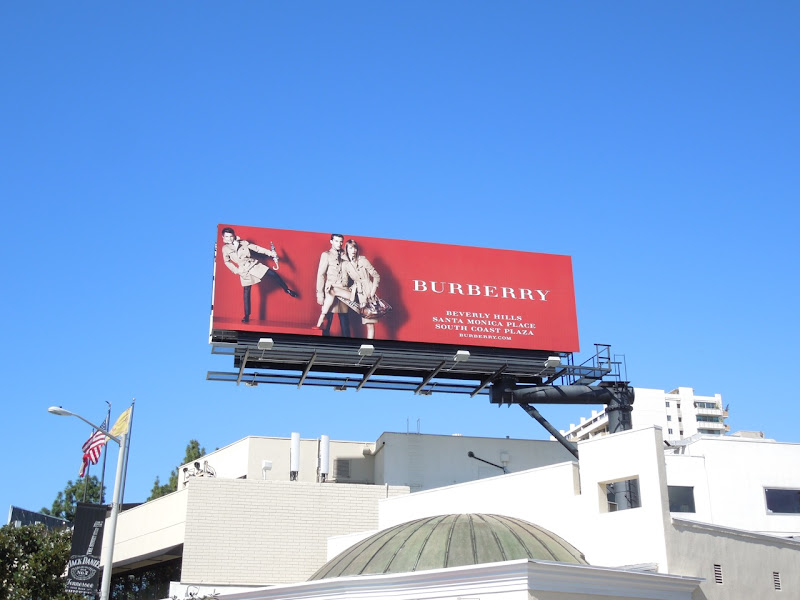 Romeo Beckham Burberry trench coat billboard