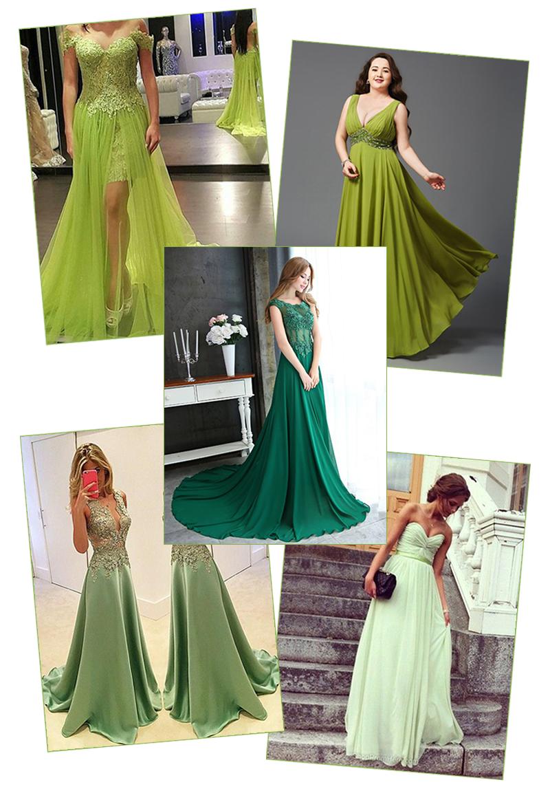 Vestidos de Baile Verdes