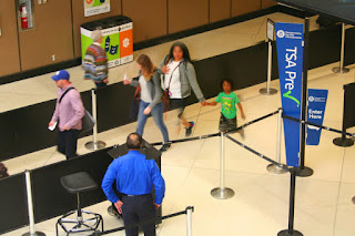 TSA Pre-Check Security Checkpoint at Seattle-Tacoma Airport SEA