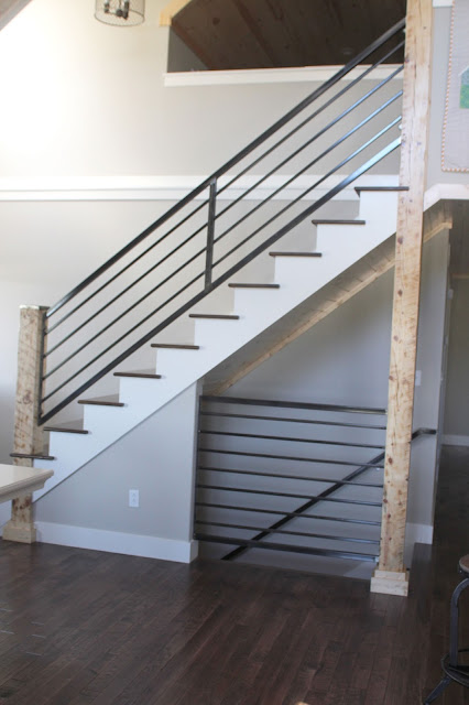 Custom railing for new stairway