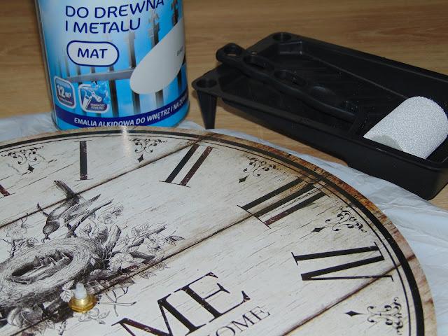 jak przerobić zegar na styl skandynawski