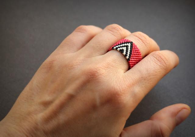 купить авторские кольца бисерные украшения интернет магазин