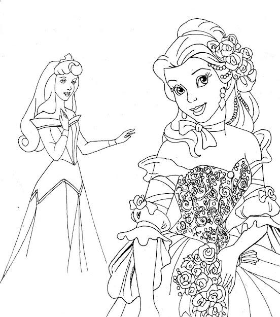 Free Disney Printables  Disney Princesses Coloring Pages Printable