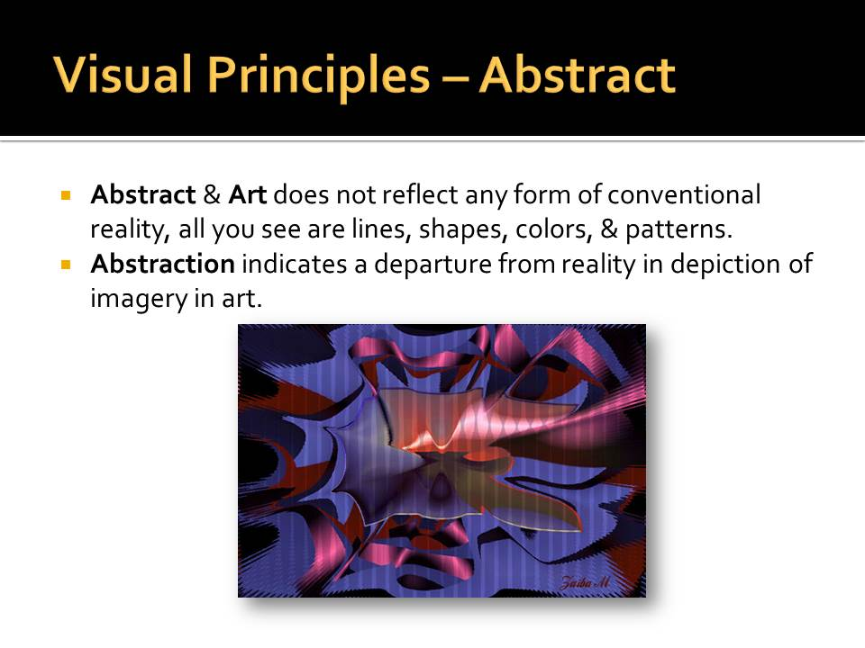 Visual Principles : Anything to do with design visual art elements