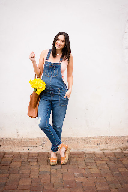 Motherhood Maternity Overalls pea in a pod tank for spring