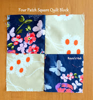 http://roycedavids.blogspot.ae/2016/01/four-patch-square-quilt-block.html