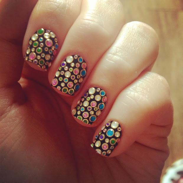little bling nail