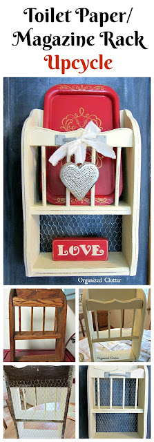 Salvaged Shelf Valentine's Day Decor #upcycle #repurpose