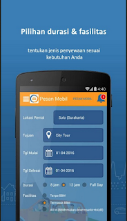Tampilan User Interface Aplikai DoCar