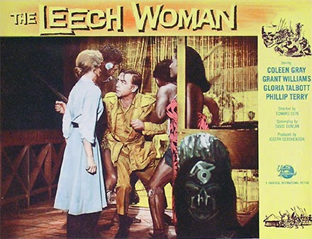 Lobby card - The Leech Woman - Jungle encounter