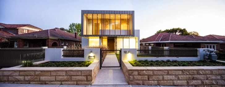 Front facade of Beautiful Box House by Zouk Architects