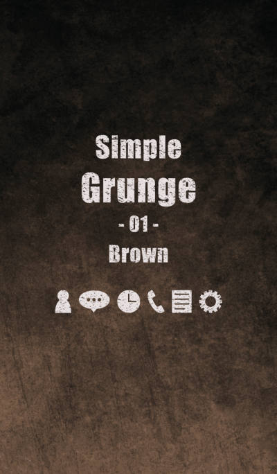 Simple Grunge 01 Brown