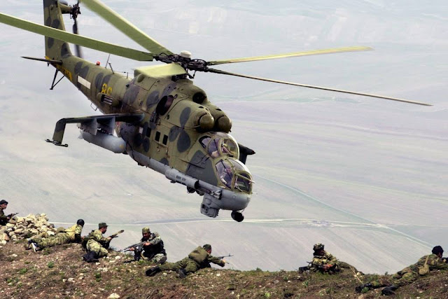 Marines contractor russian Hind helicopter