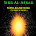 Kitab Sirr Al Asrar: Manusia Kembali Ke Asal Usul