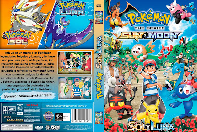 CARATULA POKEMON SOL Y LUNA -POKEMON SUN AND MOON [COVER - DVD]