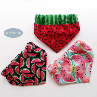 Summer Dog Bandanas, custom sizes