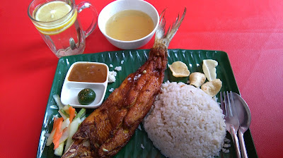 Ikan Bangus & Garlic Rice - Adzie Cafe & Bakery
