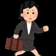 営業で外回りをする女性会社員のイラスト