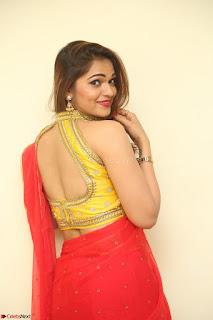 Actress Ashwini in Golden choli Red saree Spicy Pics ~  084.JPG