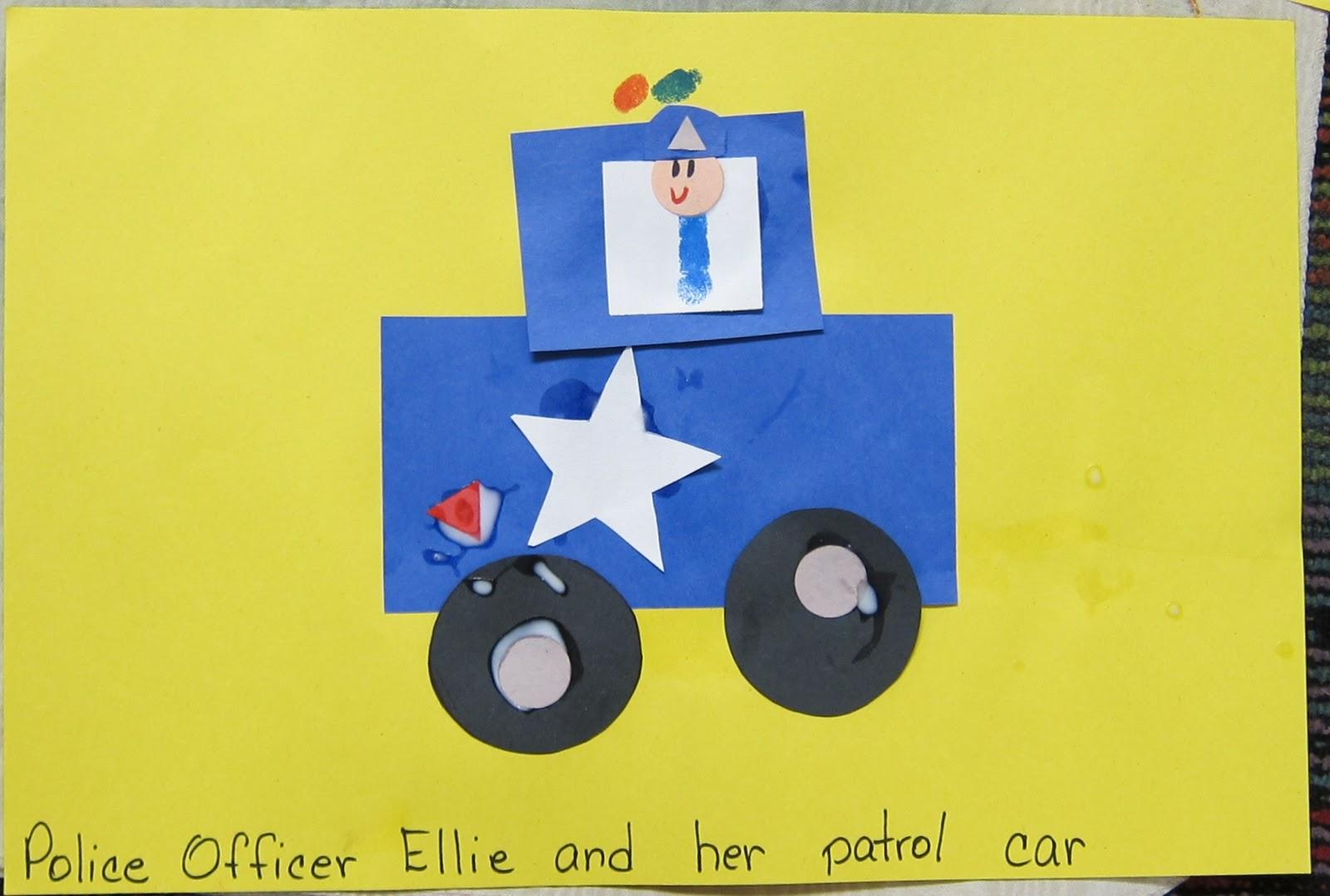 Police Car Craft For Preschoolers