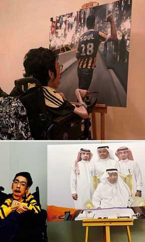 Rakan Abdulaziz Kurdi Membuktikan Bahwa Cacat Bukan Batas Dengan Menciptakan Lukisan Realistis ini