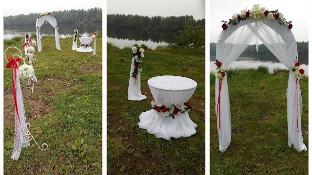 Некоторые детали оформления для церемонии бракосочетания на открытом воздухе