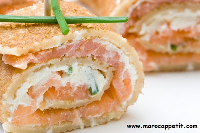 Galettes au saumon fumé | pancakes with smoked salmon