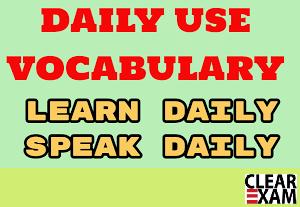 Daily Vocabulary Wordlist : 8 November   CurrentAffairs