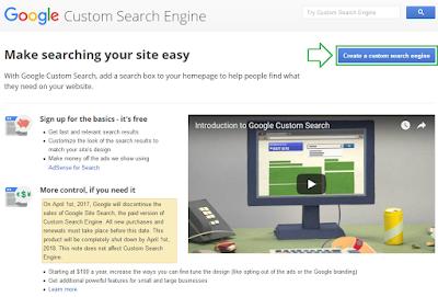 Cara memasang google costum search di blog - langkah 2