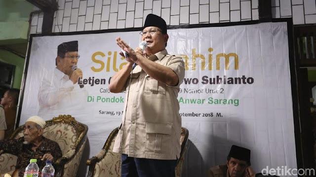 Ultah ke-67, Prabowo Fokus Galang Bantuan untuk Sulteng dan Lombok
