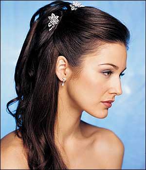 bridal hairstyles long straight