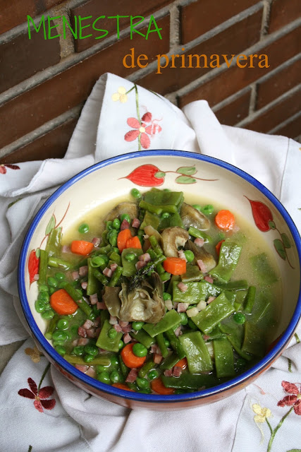 Menestra de primavera,menestra de verduras