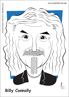 Billy Connolly caricature by Ian Davy Brown
