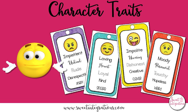 Bring characterization to life by using emojis in the classroom. Your 2nd, 3rd, 4th, & 5th grade students will love this method of learning a reading strategy. You can choose to teach reading skills through a digital or technology format with this download. Click through to learn some great new ideas, support the standards, and get your students engaged and excited about learning! Reading, vocabulary, and other ELA topics are all covered. {second, third, fourth, fifth graders}