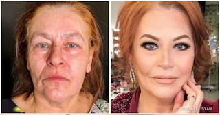 Ταλαντούχος Make Up Artist μεταμορφώνει απλές νοικοκυρές μόνο με μακιγιάζ και τις κάνει να δείχνουν δεκαετίες νεότερες!