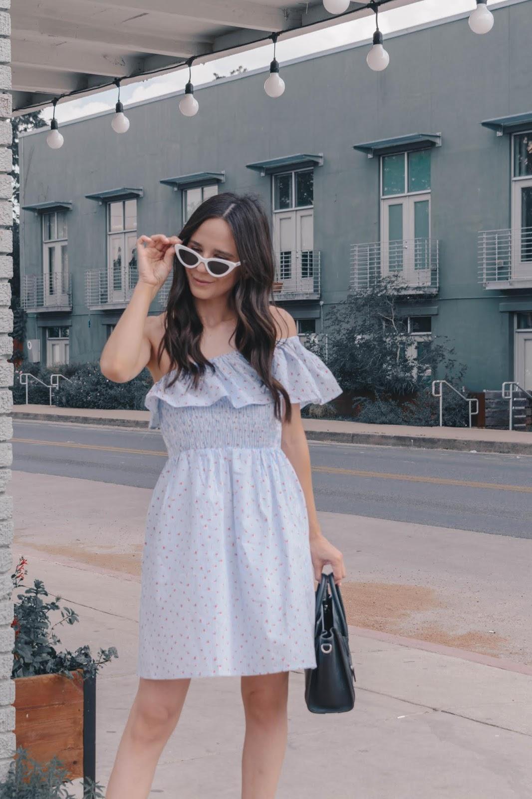 One shoulder summer dress