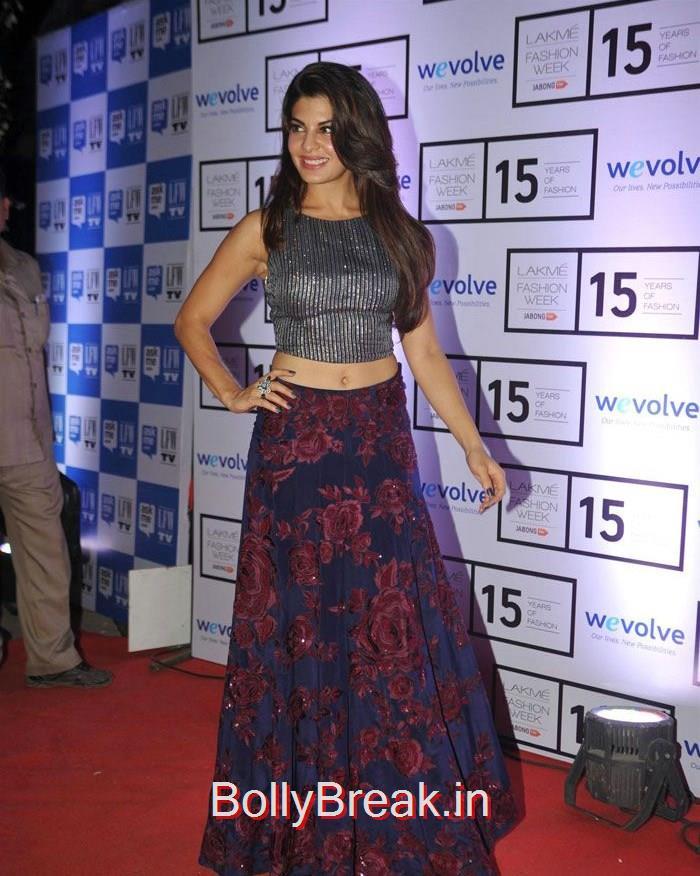 Jacqueline Fernandez, Sridevi, Kajol, Deepika, Neha at Manish Malhotra's show at LFW 2015