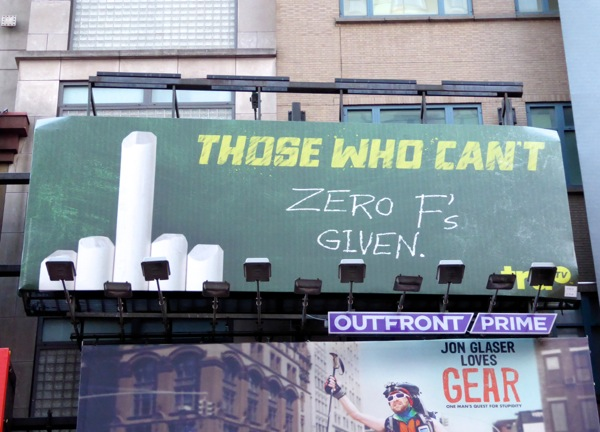 Those Who CanT season 2 Zero Fs given billboard NYC