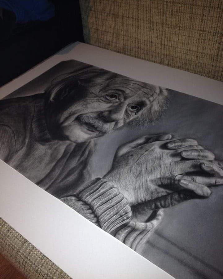06-Albert-Einstein-Ivan-Kobilšek-Pencil-Portrait-www-designstack-co