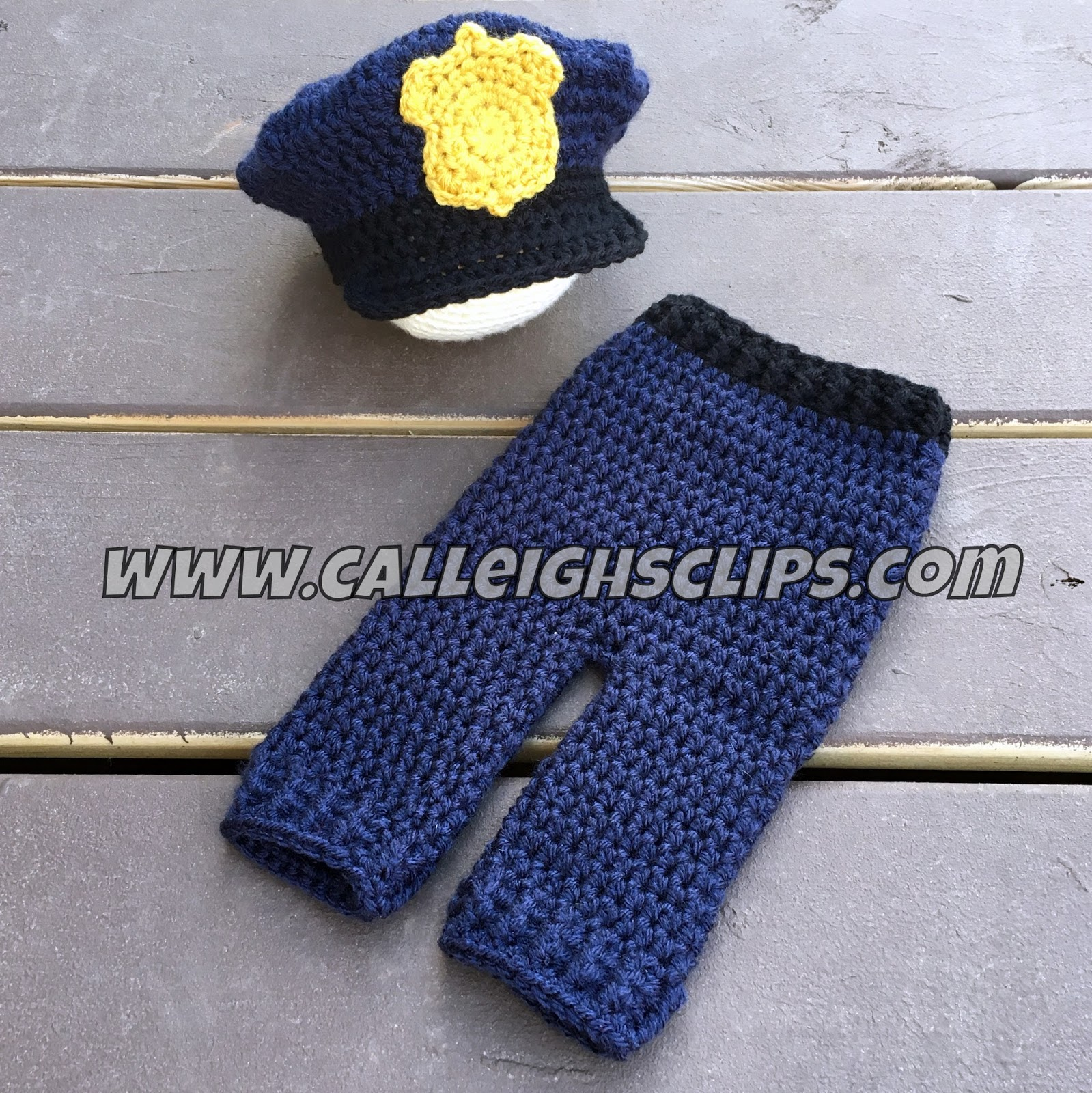 Calleigh s Clips   Crochet Creations  Police Officer Crochet Hat and ... 461edc5551a