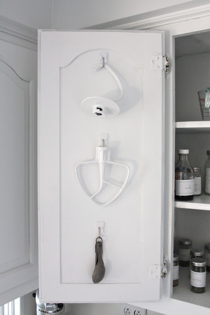 command hooks for spice cabinet and baking pantry