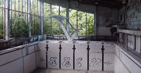 Drone view Chernobyl